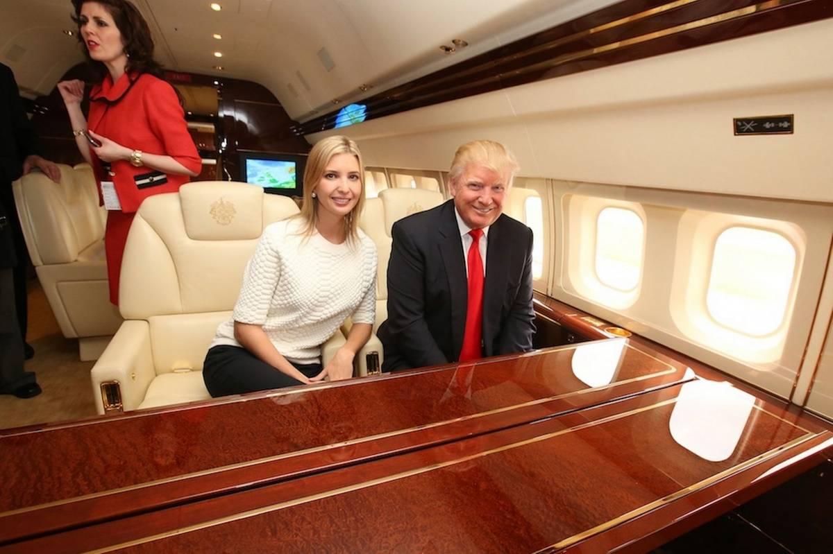A Peek Inside Donald Trumps 100 Million Private Jet