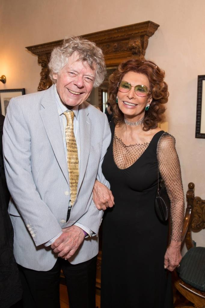 Gordon Getty and Sophia Loren  Credit: Drew Altizer Photography