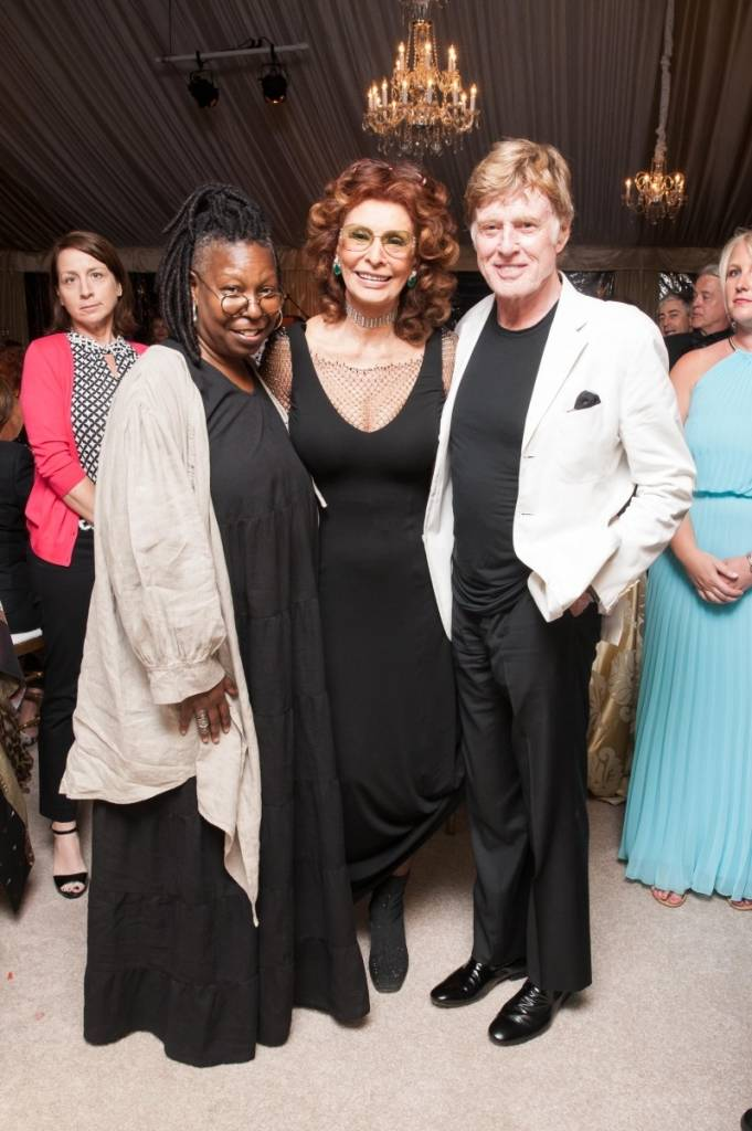 Whoppi Goldberg, Sophia Loren and Robert Redford  Credit: Drew Altizer Photography