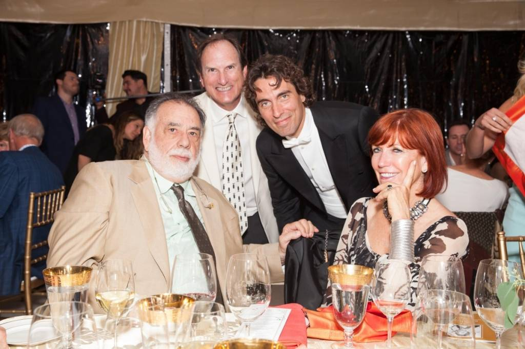 Francis Ford Coppola, Carlo Ponte and the McGuires  Credit: Drew Altizer Photography