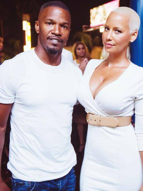 Jamie Foxx and Amber Rose