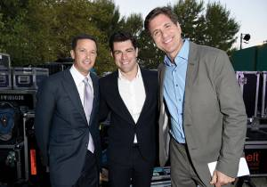 Jay Sures, Max Greenfield and Steve Levitan