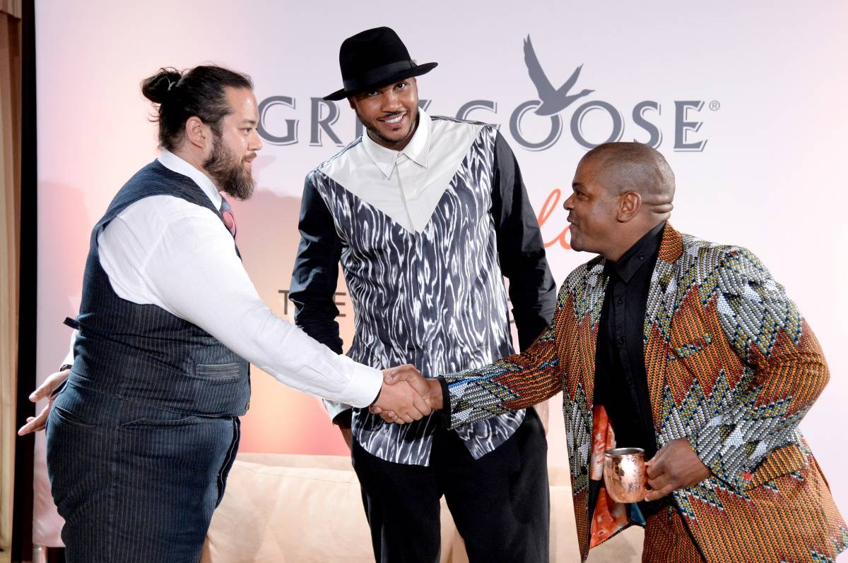 Max Chow. Carmelo Anthony and Kehinde Wile