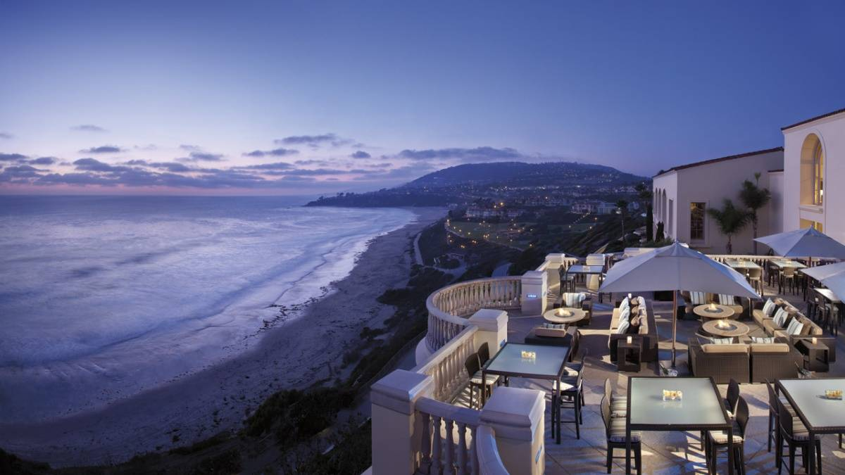 Outdoor dining at Ritz-Carlton Laguna Niguel