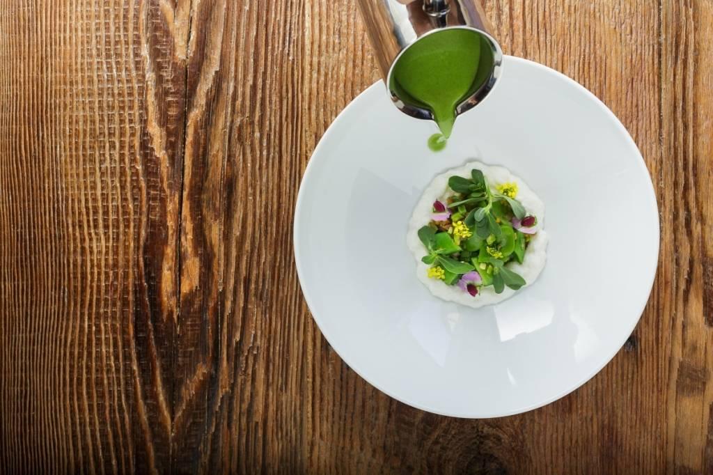 Press Spring Vegetable Soup  Credit: Morgan Bellinger