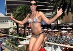 Adrianne Curry Parties At Encore Beach Club In Wynn Las Vegas