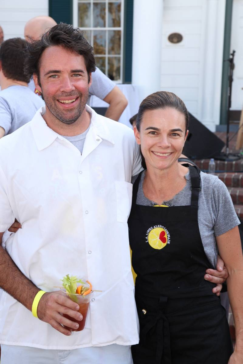 Chefs David Lentz & Suzanne Goin at L.A. Loves Alex's Lemonade 2012