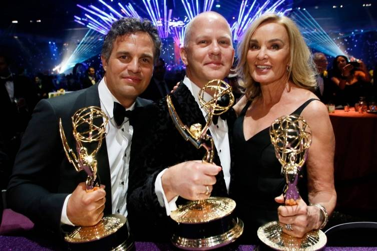 Mark Ruffalo, Ryan Murphy & Jessica Lange at the Governors Ball