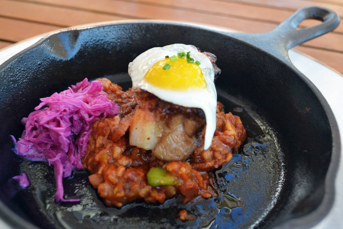 Samuelsson at HP – Jerk Pork Belly – Photo by Kristin Tablang
