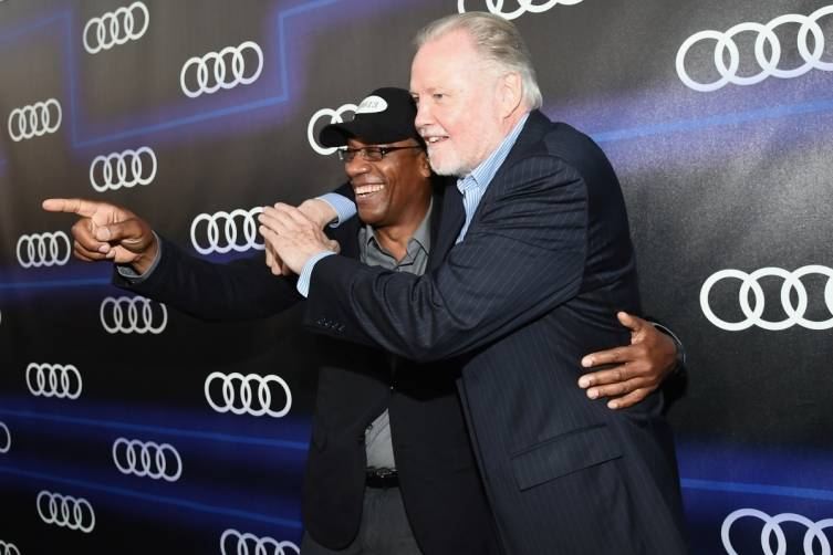Joe Morton and Jon Voight