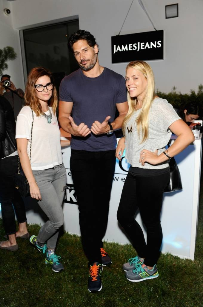 Kelly Oxford, Joe Manganiello and Busy Phillips attend a dance party with New Balance and James Jeans powered by ISKO.
