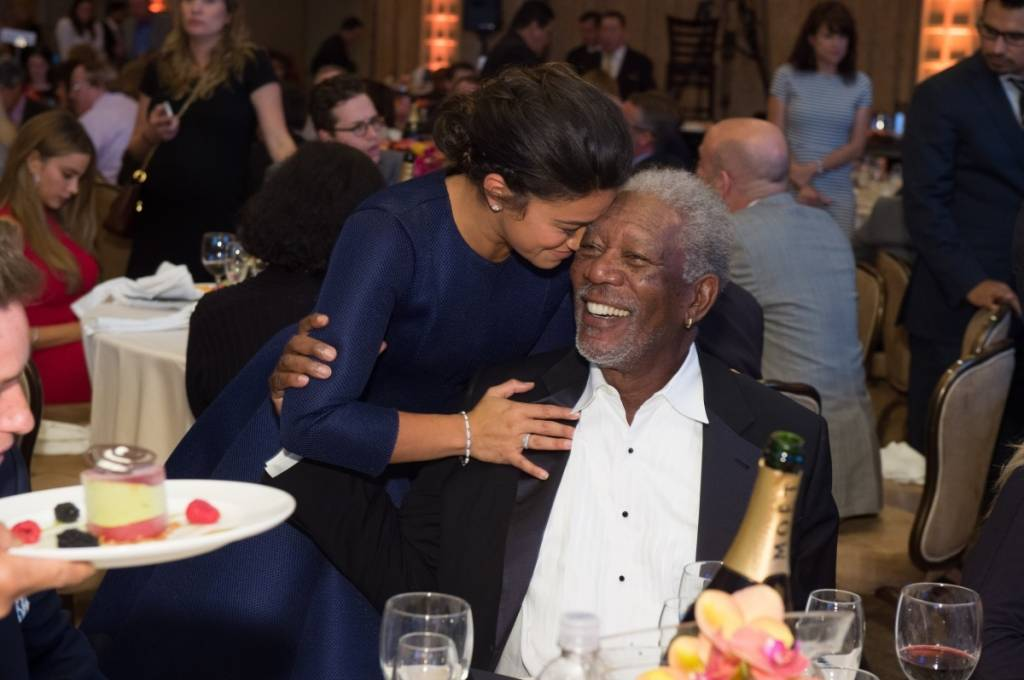 Morgan Freeman & Gina Rodriguez