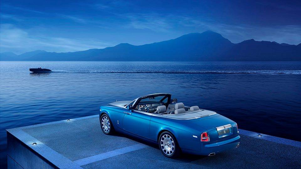 Rolls-Royce Phantom Drophead Coupé Waterspeed Collection  Image via facebook.com/pebblebeachconcours