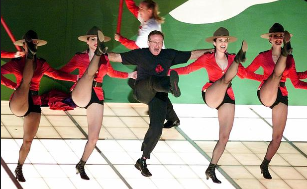 "Williams Performs ""Blame Canada"" from the ""South Park"" movie at the 2000 Academy Awards, photo by Getty Images"