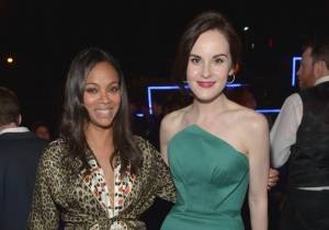 Zoe Saldana and Michelle Dockery