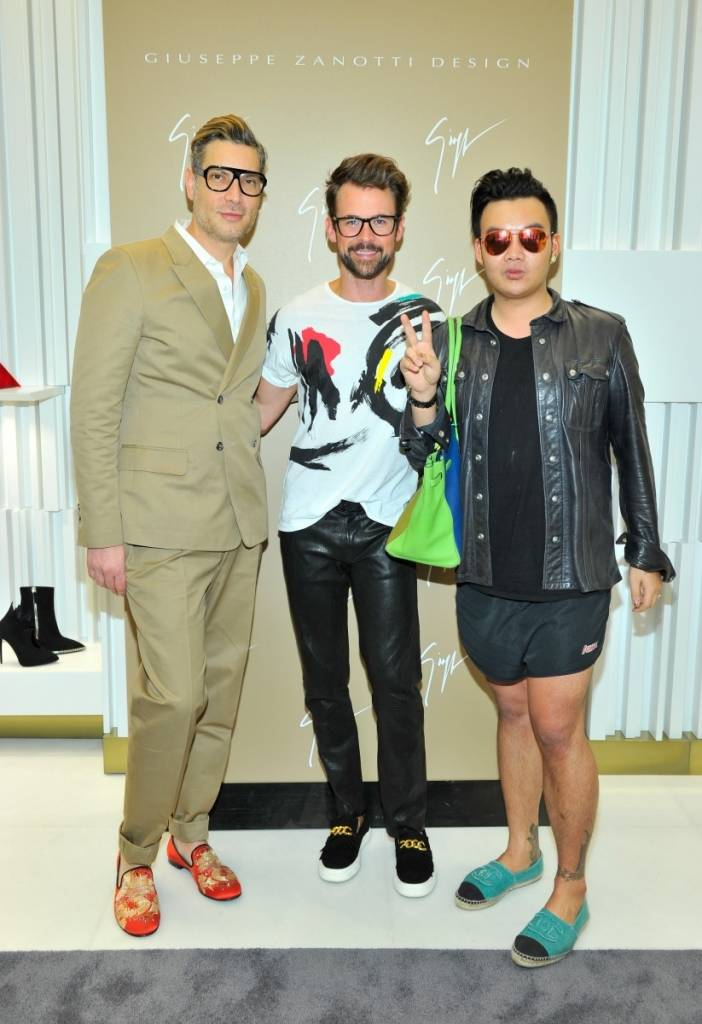 (L-R) Stylists Cameron Silver, Brad Goreski and Kane Lim