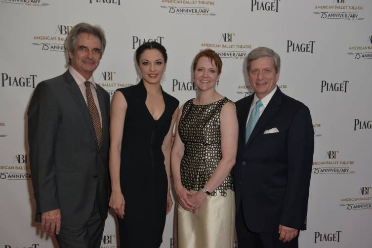 ABT Artistic Director, Kevin McKenzie; Principal Dancer, Veronika Part; ABT CEO, Rachel Moore and President of Piaget North America, Larry Boland