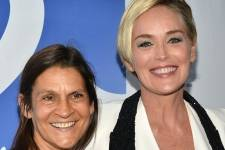 Aileen Getty and Sharon Stone