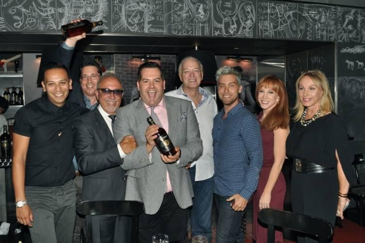 Emilio Estefan, Ross Mathews, Lance Bass, Kathy Griffen and Lea Black _0475