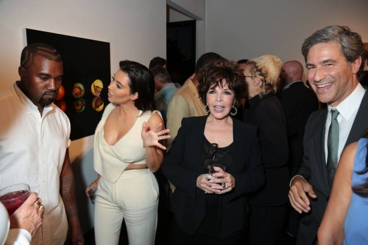 Kanye West, Kim Kardashian, Carole Bayer Sager and Michael Govan