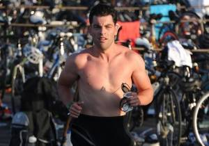 Max Greenfield swim finish