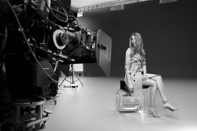 Cara Delevingne for My Burberry, Behind the Scenes