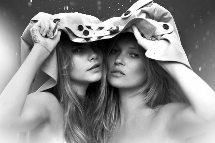 Cara  Delevingne and Kate Moss, My Burberry Behind the Scenes
