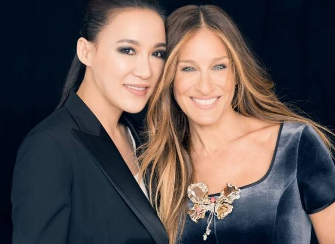 Cindy Chao and Sarah Jessica Parker and the Black Label Masterpiece Brooch
