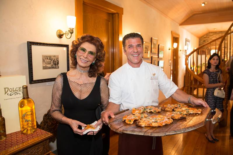 Sophia Loren and Michael Chiarello