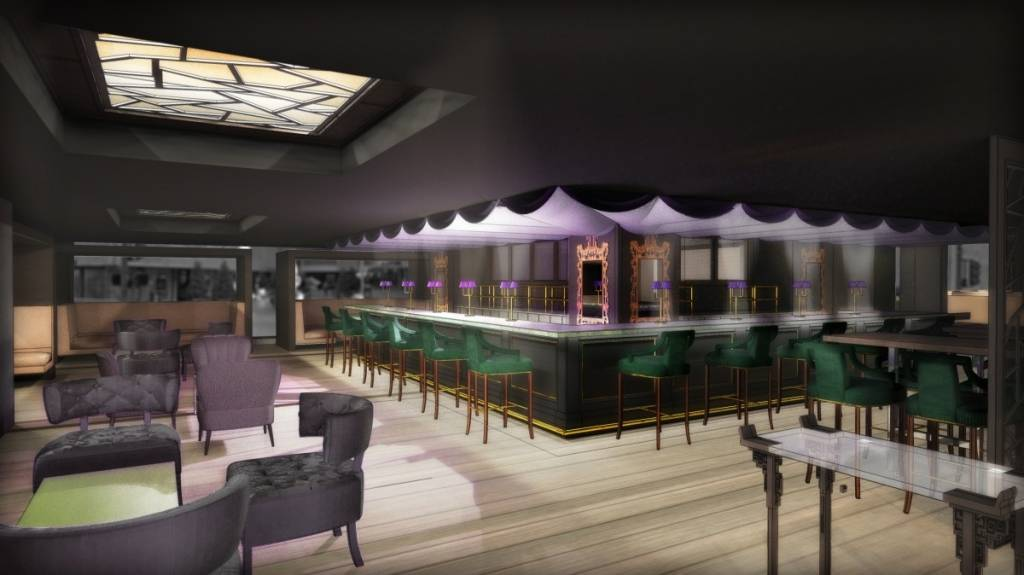 Rendering of bar at Crystal Jade Jiang Nan