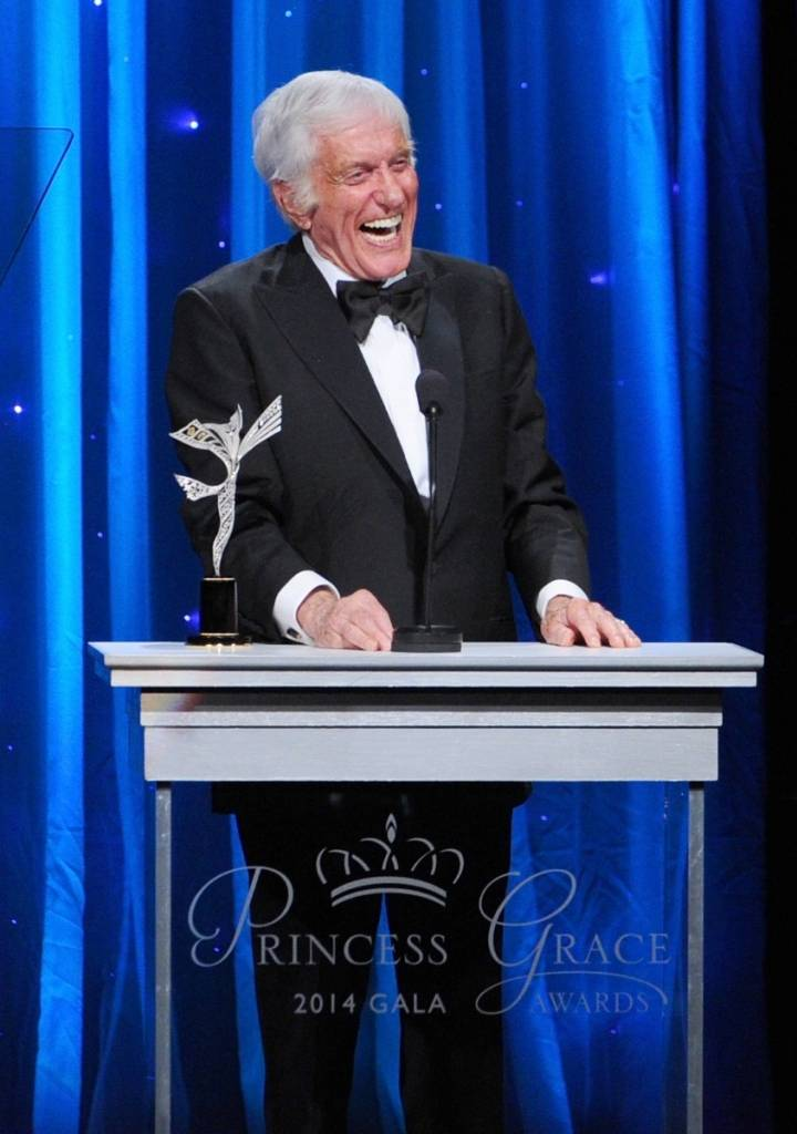 Dick Van Dyke accepts the Prince Rainier III Award