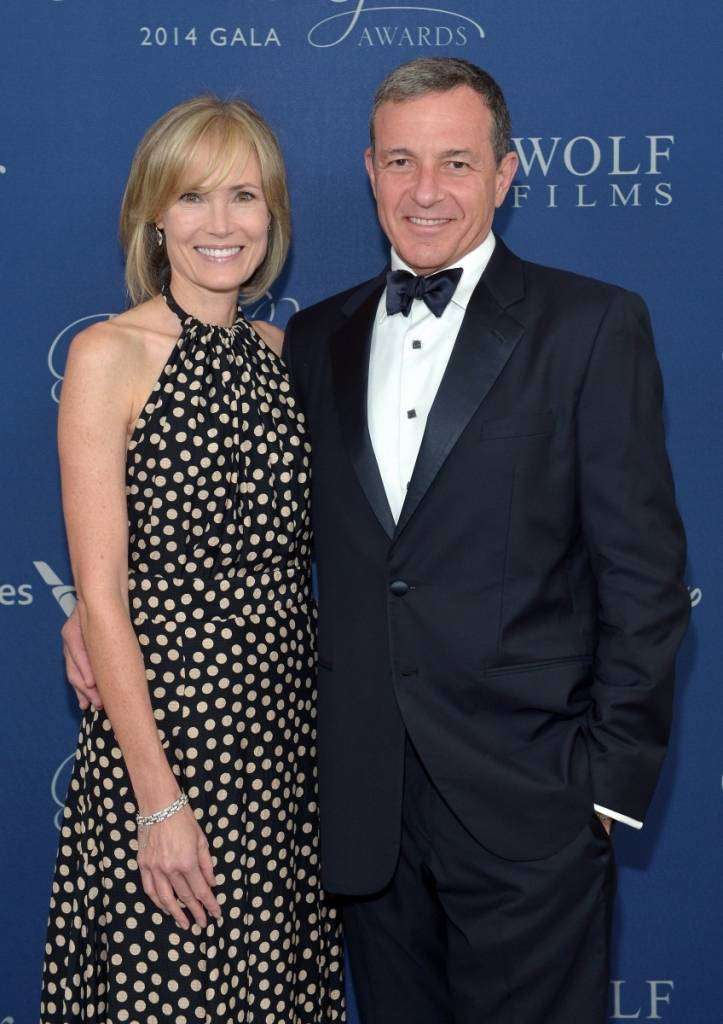 Gala co-chairs Willow Bay (L) and Bob Iger attend the 2014 Princess Grace Awards Gala -