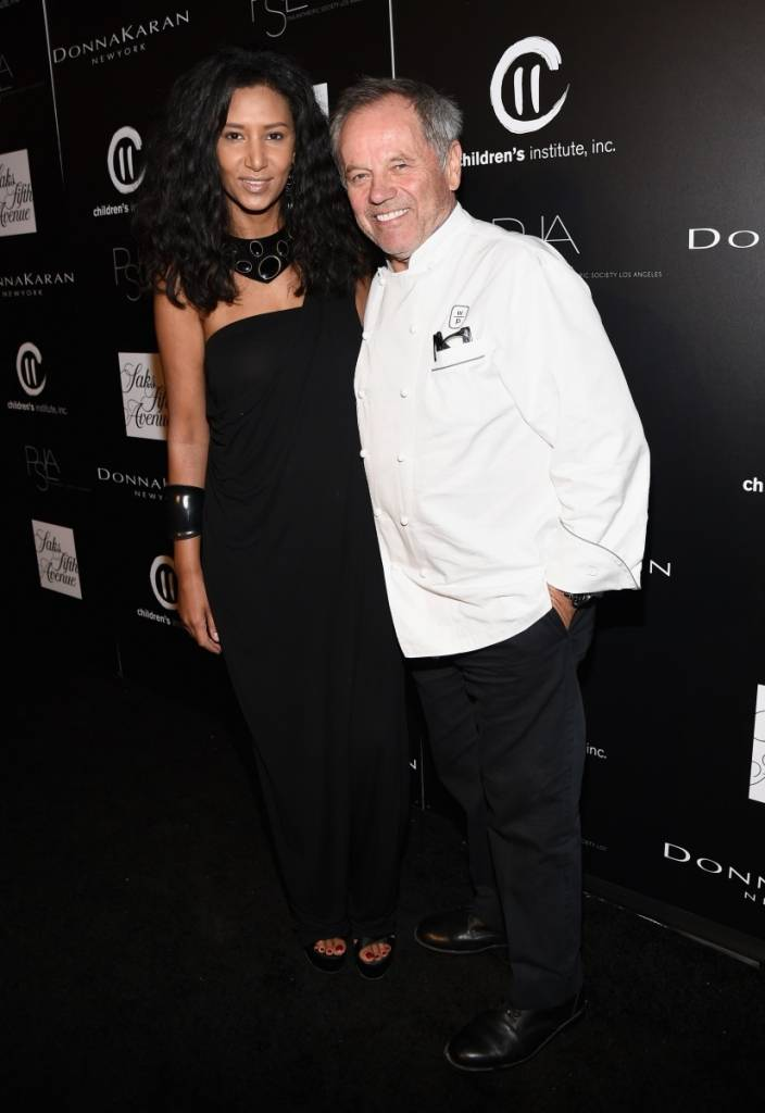 Gelila Assefa (L) and chef Wolfgang Puck