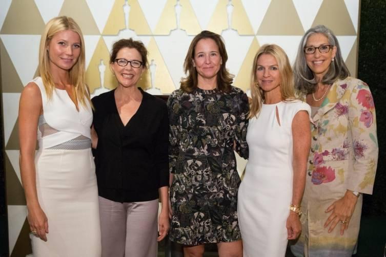 Gwyneth Paltrow, Annette Bening, Elizabeth Wiatt, Crystal Lourd and Deborah Nadoolman Landis, John Farrell, AMPAS