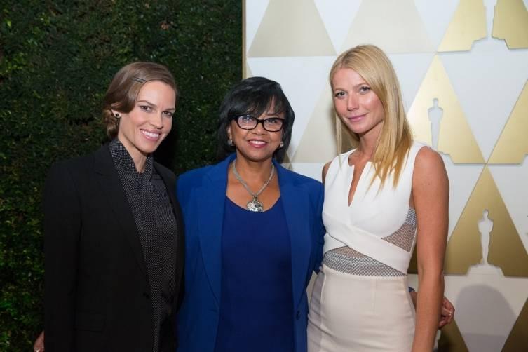 Hilary Swank, Cheryl Boone Isaacs, Gwyneth Paltrow