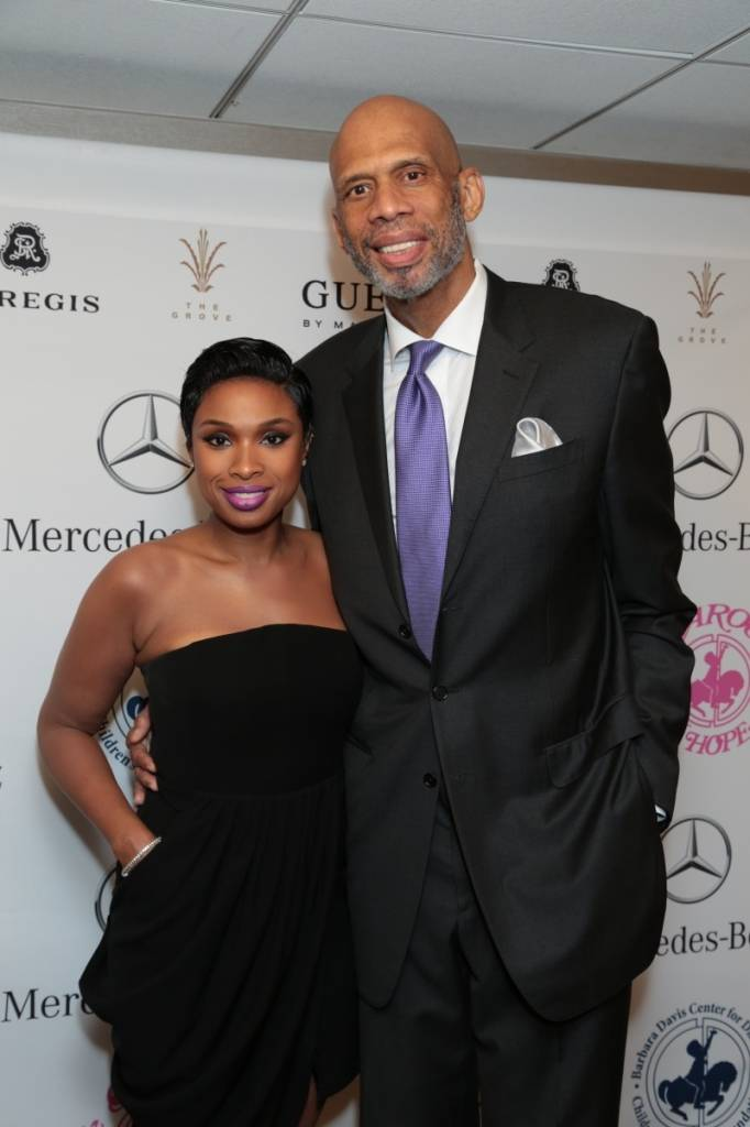Jennifer Hudson and Kareem Abdul-Jabbar