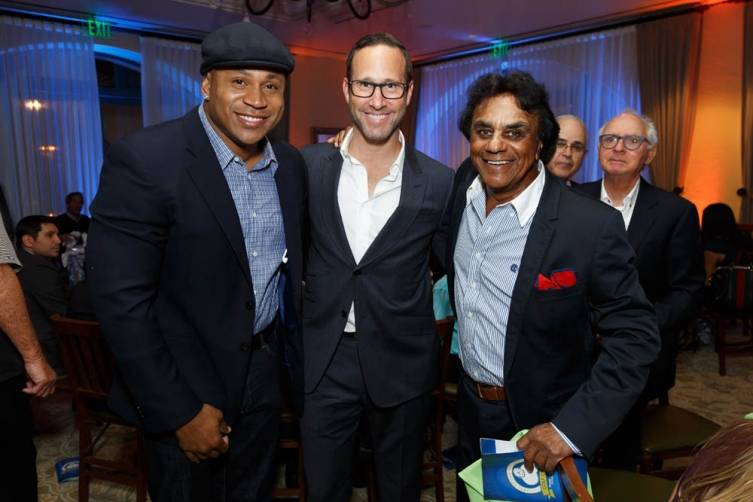 LL Cool J, Honoree WME's Richard Weitz and singer Johnny Mathis