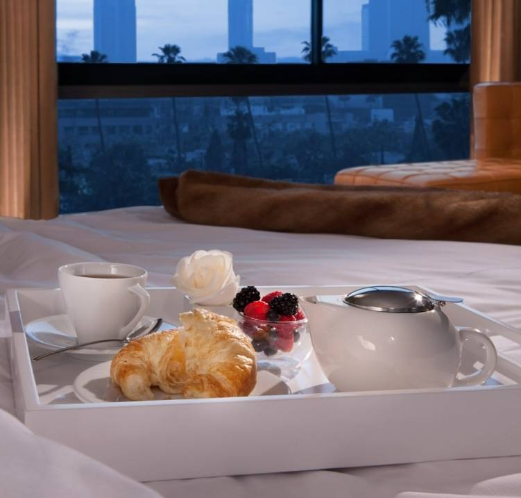 SLS Beverly Hills breakfast in bed