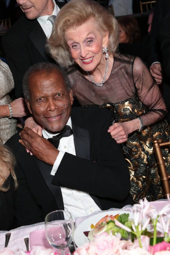Sidney Poitier and Barbara Davis