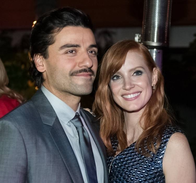 Oscar Isaac and Jessica Chastain at the AFI FEST Opening Night Gala After-Party