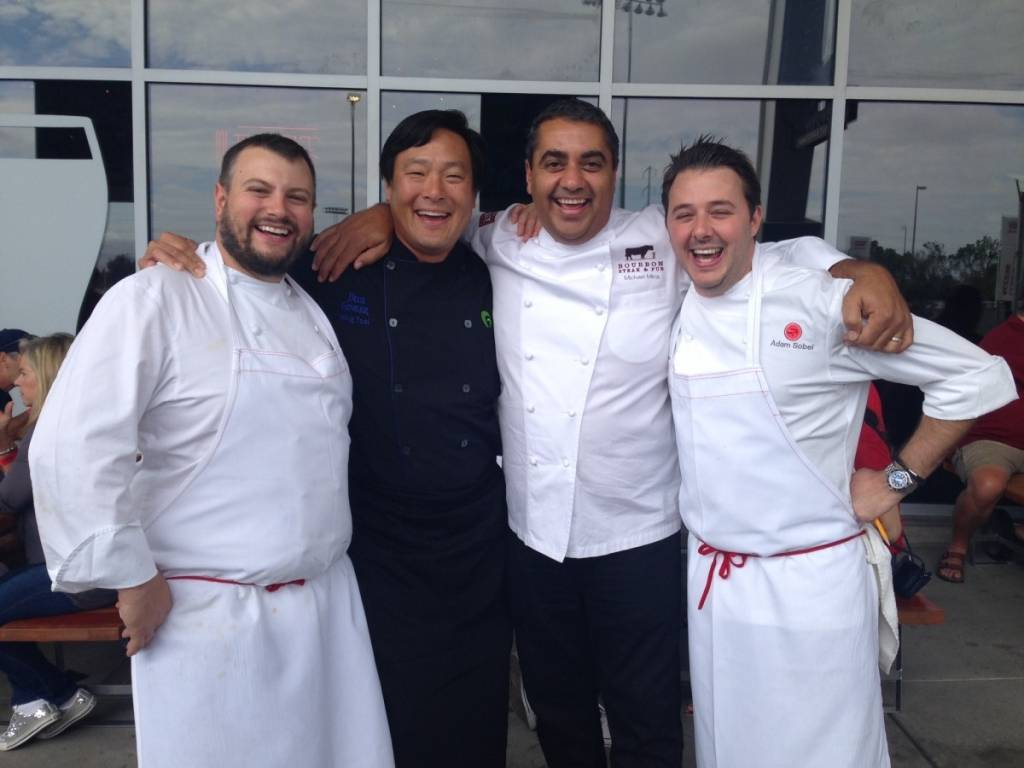 Chefs David Varley, Ming Tsai, Michael Mina and Adam Mesnick