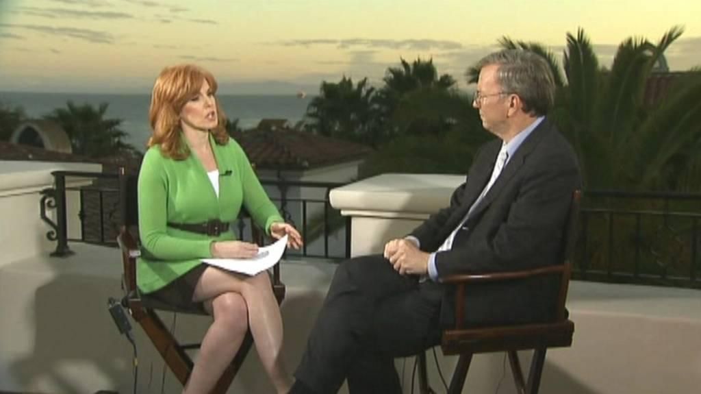 liz claman Google Executive Chairman Eric Schmidt