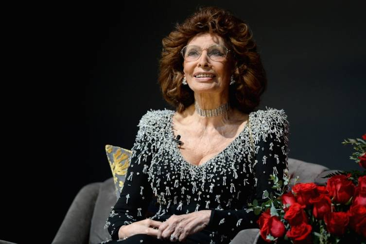 Sophia Loren onstage at the Dolby Theatre