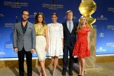 Jeremy Piven, Kate Beckinsale, Paula Patton, Peter Krause and Miss Golden Globe Greer Grammer attend the Moet & Chandon Toast at The 72nd Annual Golden Globe Awards Nominations