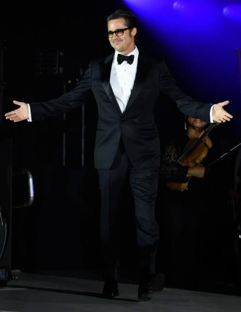 Brad Pitt onstage