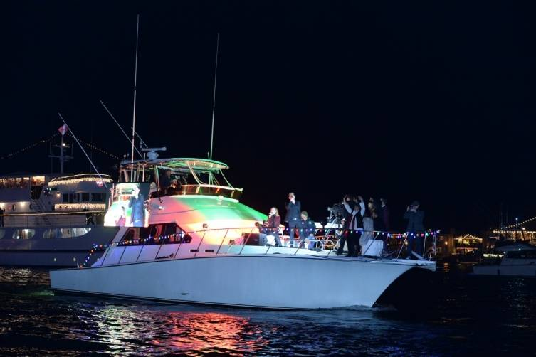 Grand Marshall boat Newport Beach Christmas boat parade