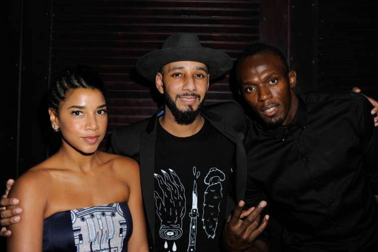 Hannah Bronfman, Swizz Beatz and Usain Bolt