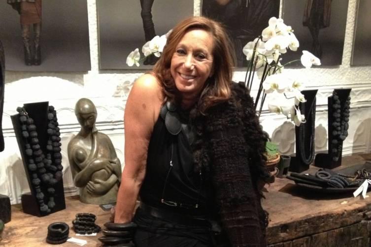 Donna Karan Dec 2014 at Urban Zen Holiday Marketplace