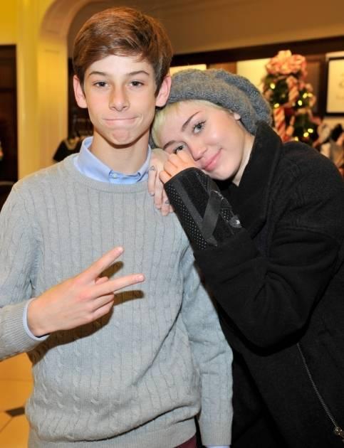 Oscar Adler and Miley Cyrus