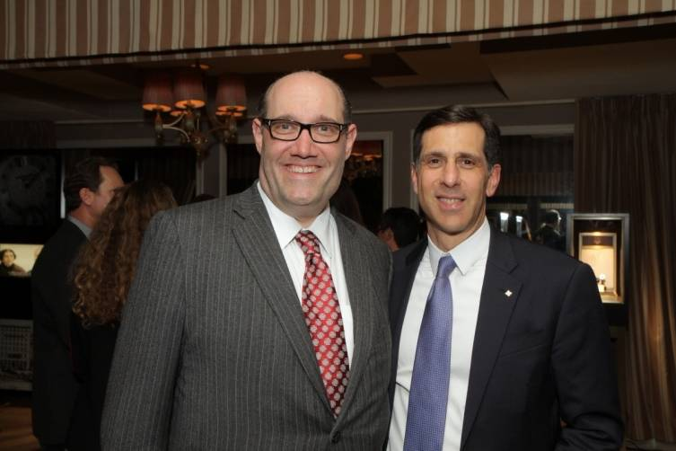 Patek Philippe US President, Larry Pettinelli, and GEARYS Owner Thomas Blumenthal at Patek Philippe 175th anniversary fete